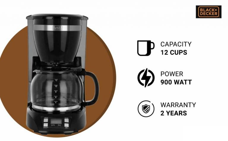 Black + Decker BXCM1201IN Drip Coffee Maker