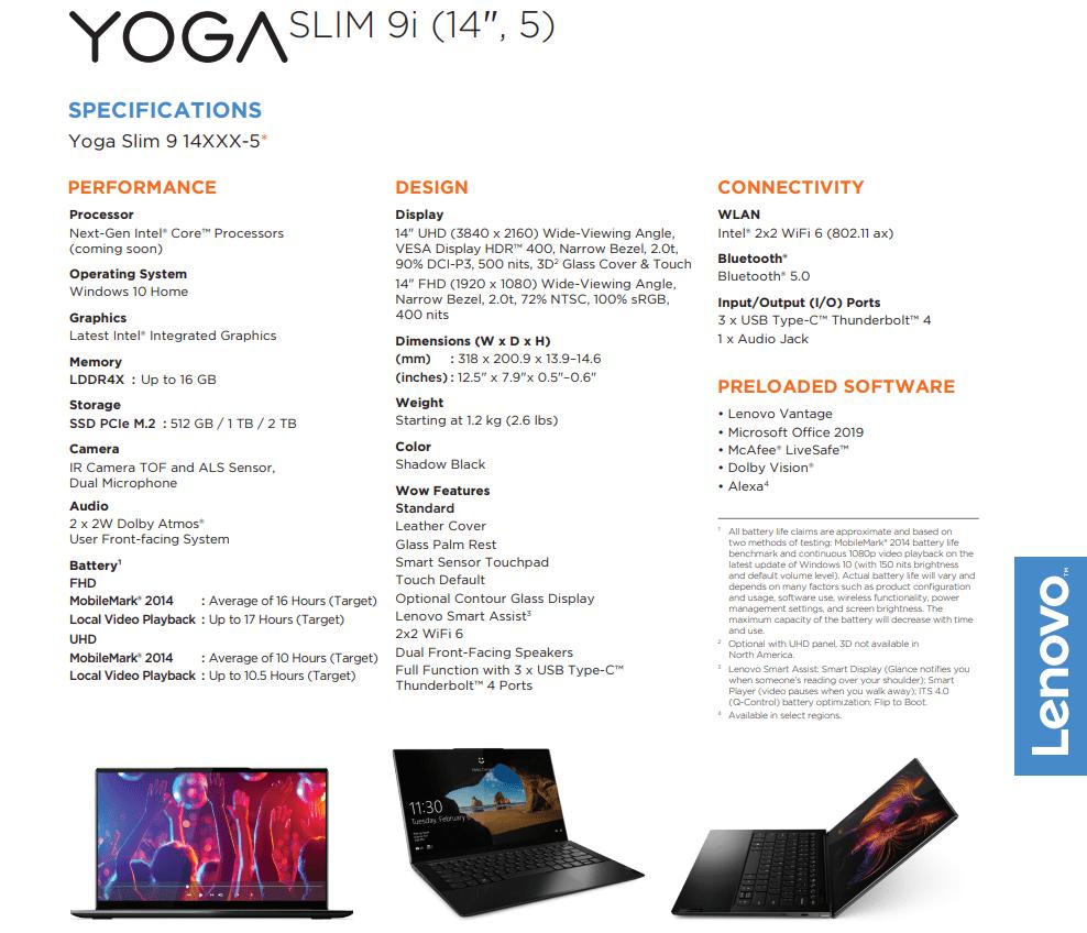 Lenovo Yoga Series Configuration