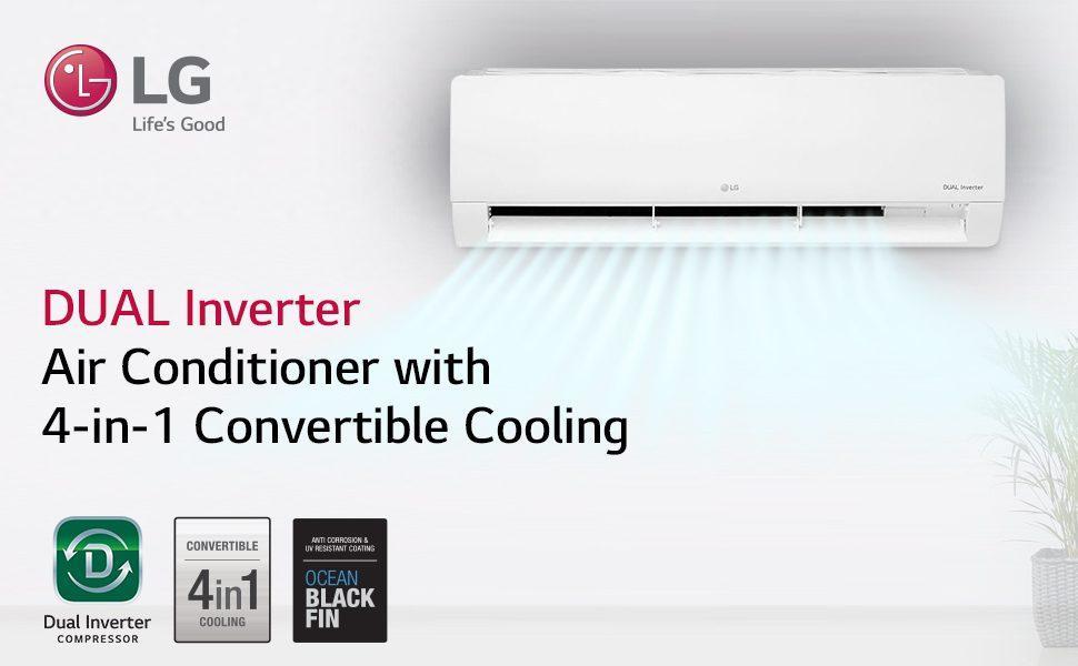 LG 3 Star Inverter Split Air Conditioner