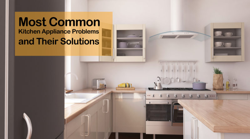 A neat modern kitchen after the most common kitchen appliance problems and repairs.