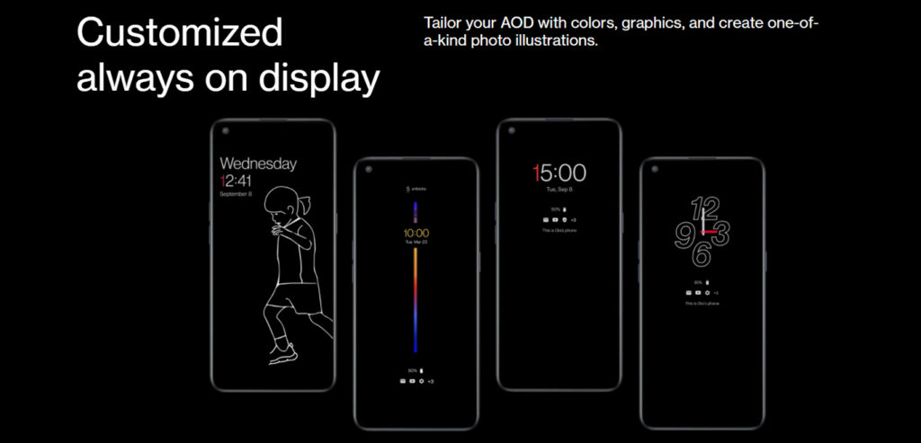 OnePlus Nord 5G Ce Customized always on display